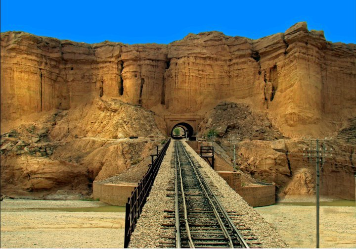 Railway track from Rohri to Quetta