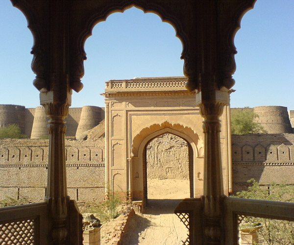 View from the mosque Derawar Fort - Bahawalpur